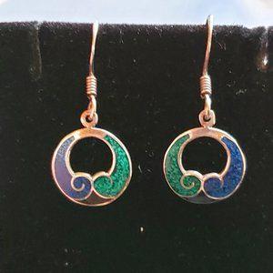 Azurite Sterling Silver Earrings